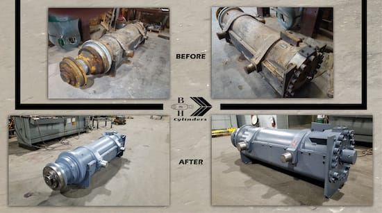 Cylinder Repair Before and After