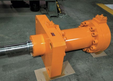 orange mill-type hydraulic cylinder